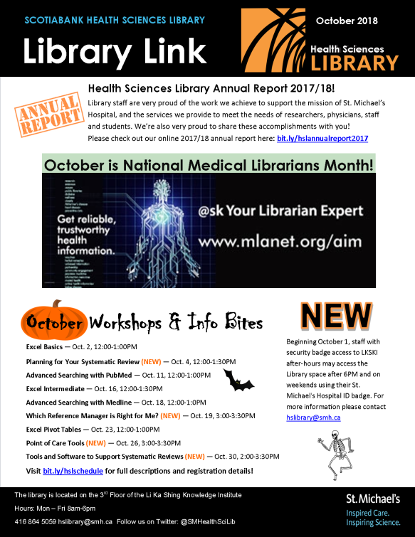 October 2018 Library Link