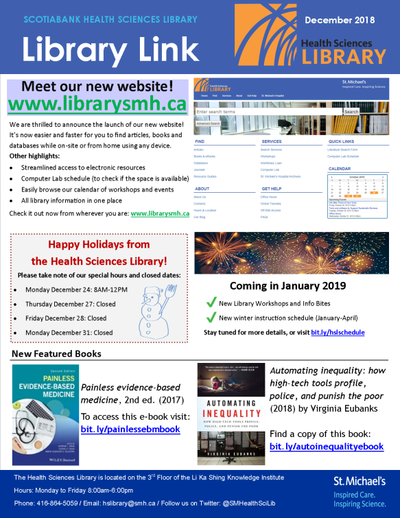 December 2018 Library Link