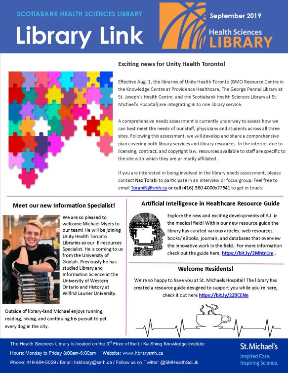 September 2019 Library Link